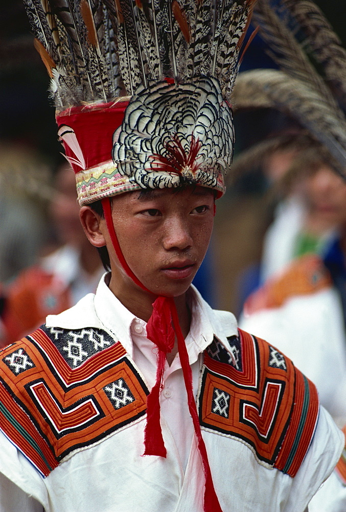 Little Flower headdress, Liupanshi, Guizhou, China, Asia - 188-4975