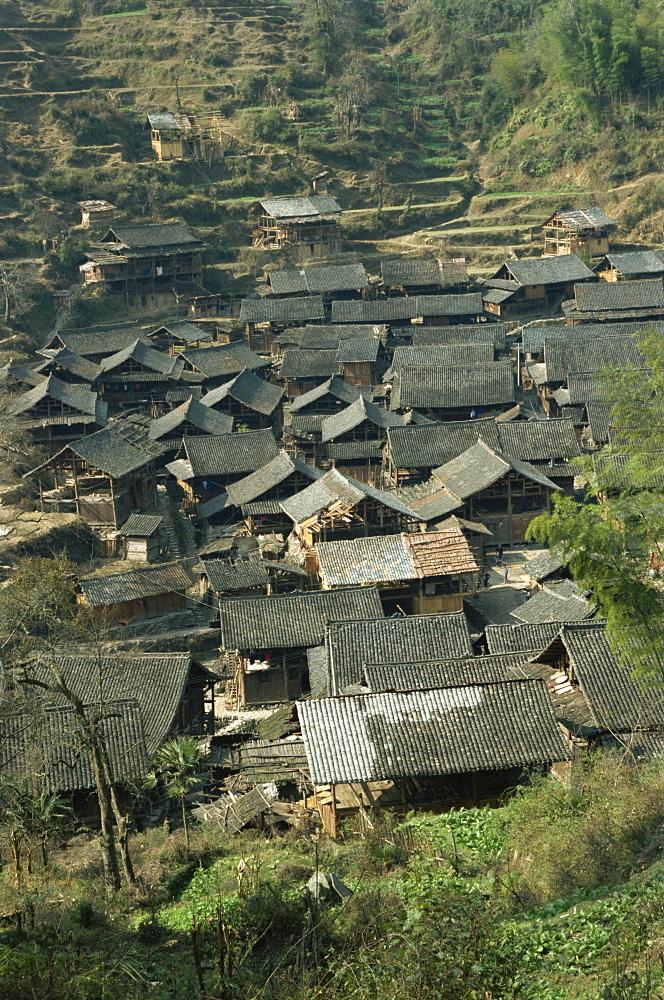 Typical Dong village near Rongjiang, Guizhou, China, Asia - 188-5830
