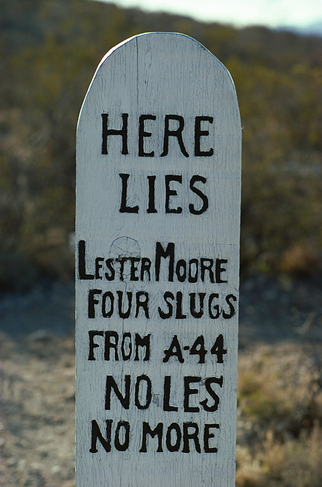 Boot Hill tombstone, Arizona, United States of America, North America - 190-2579