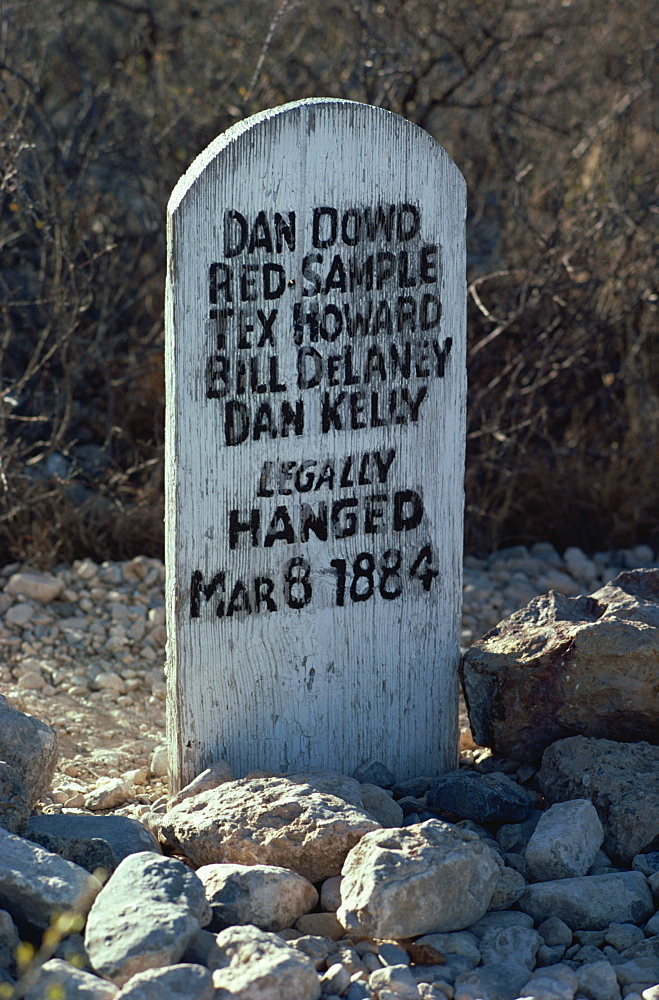Boot Hill tombstone, Arizona, United States of America, North America - 190-2580
