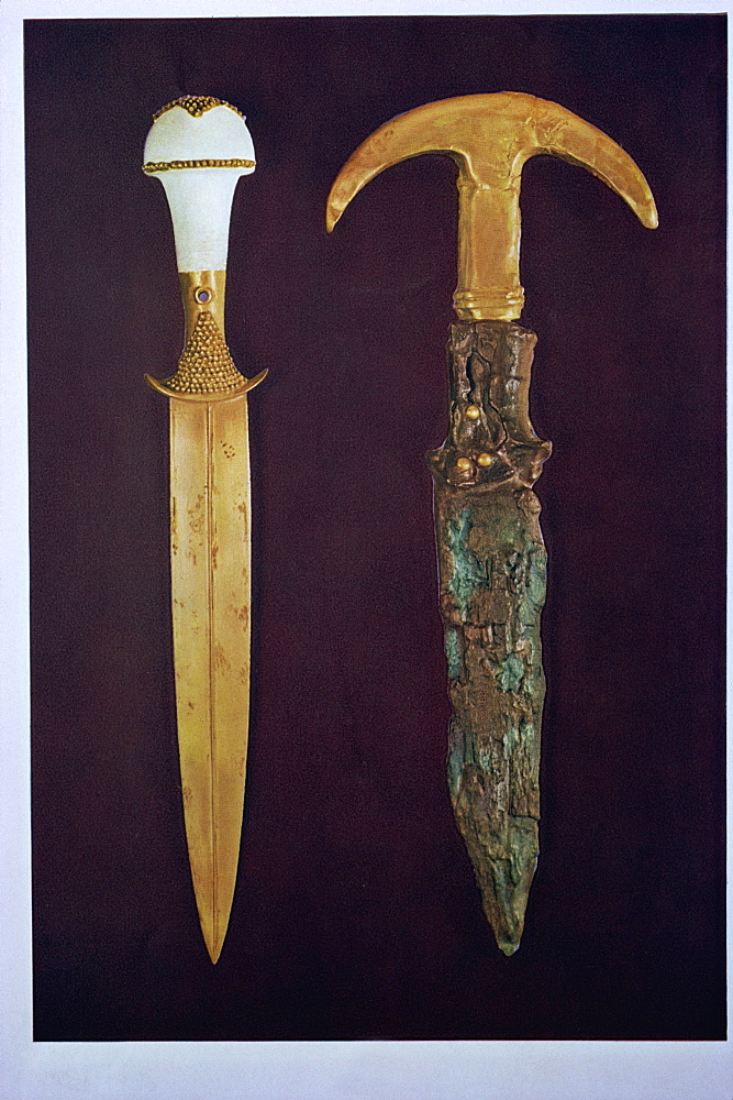 Daggers excavated at Ur, Iraq, Middle East - 190-6357