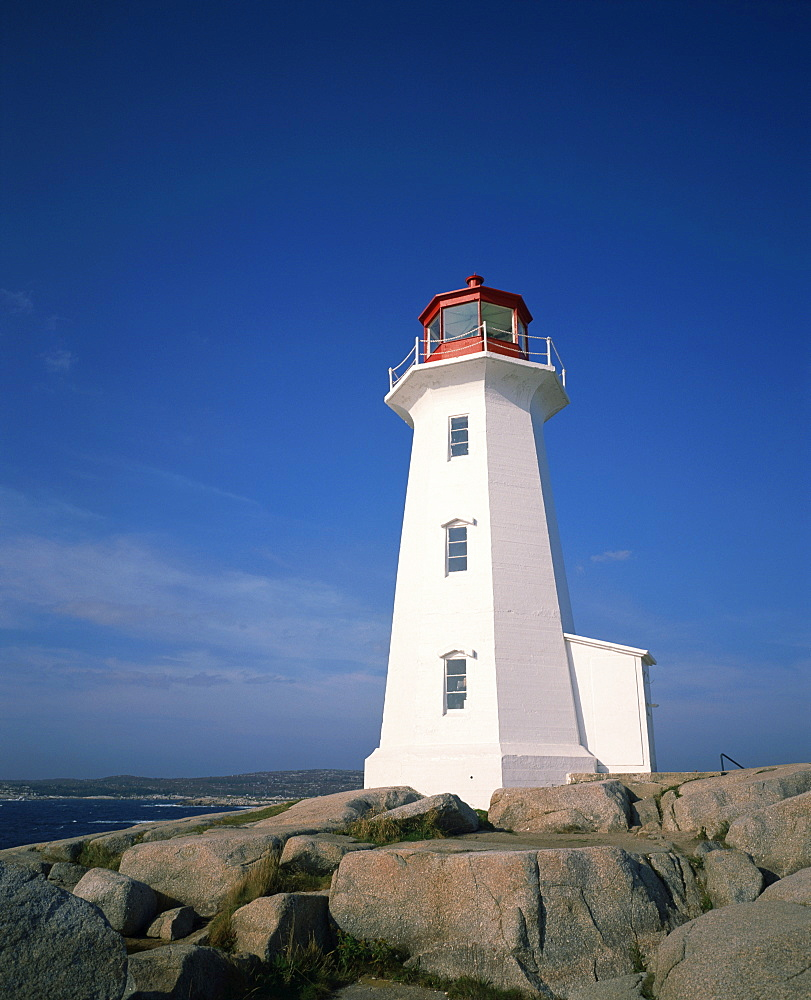 Lighthouse at Peggys Cove near Halifax in Nova Scotia, Canada, North America