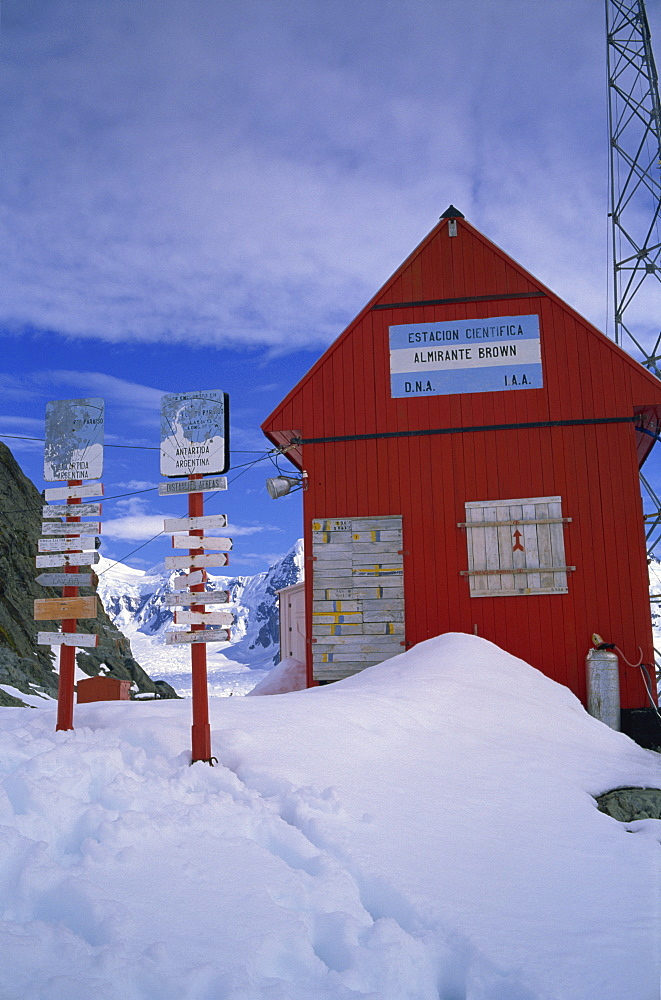 Almirante Brown station, Argentinian summer base only, Antarctic Peninsula, Antarctica, Polar Regions - 197-4359