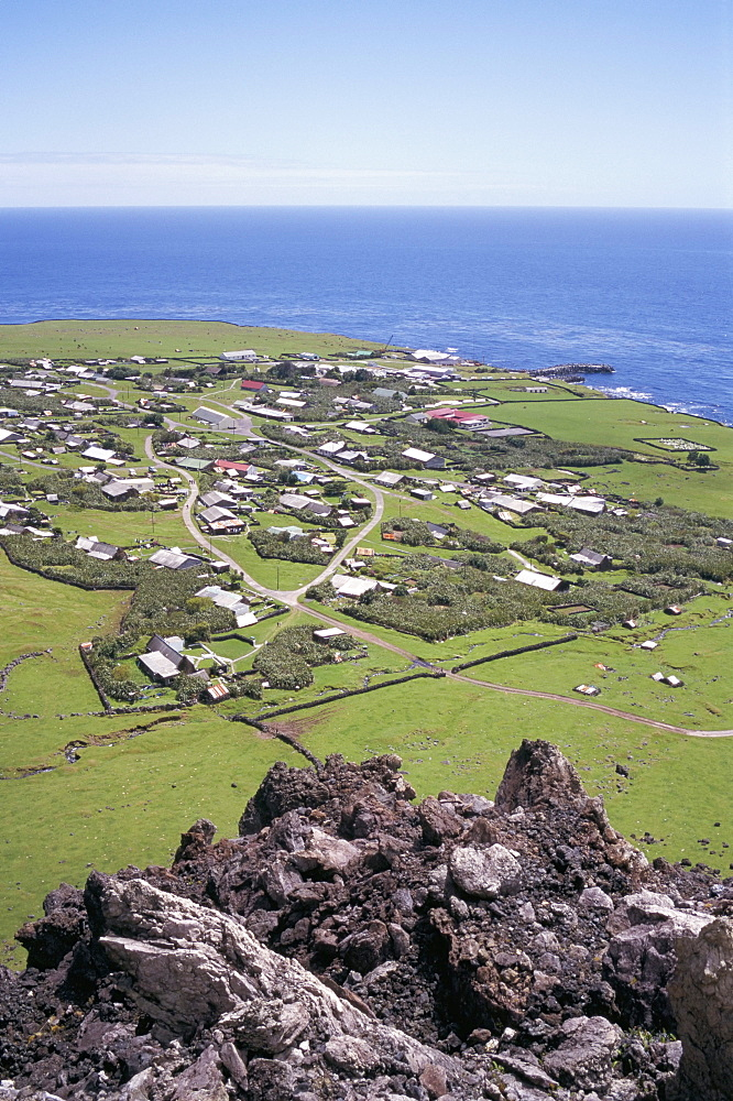 Edinburgh, taken from 1961 volcanic eruption centre, Tristan da Cunha, Atlantic Ocean, Mid Atlantic