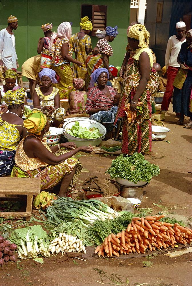Market scene, Niamey, Niger, Africa