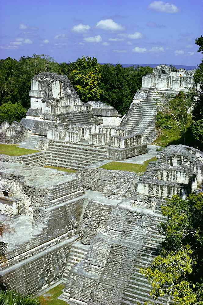 Northern Acropolis, Tikal, UNESCO World Heritage Site, Guatemala, Central America