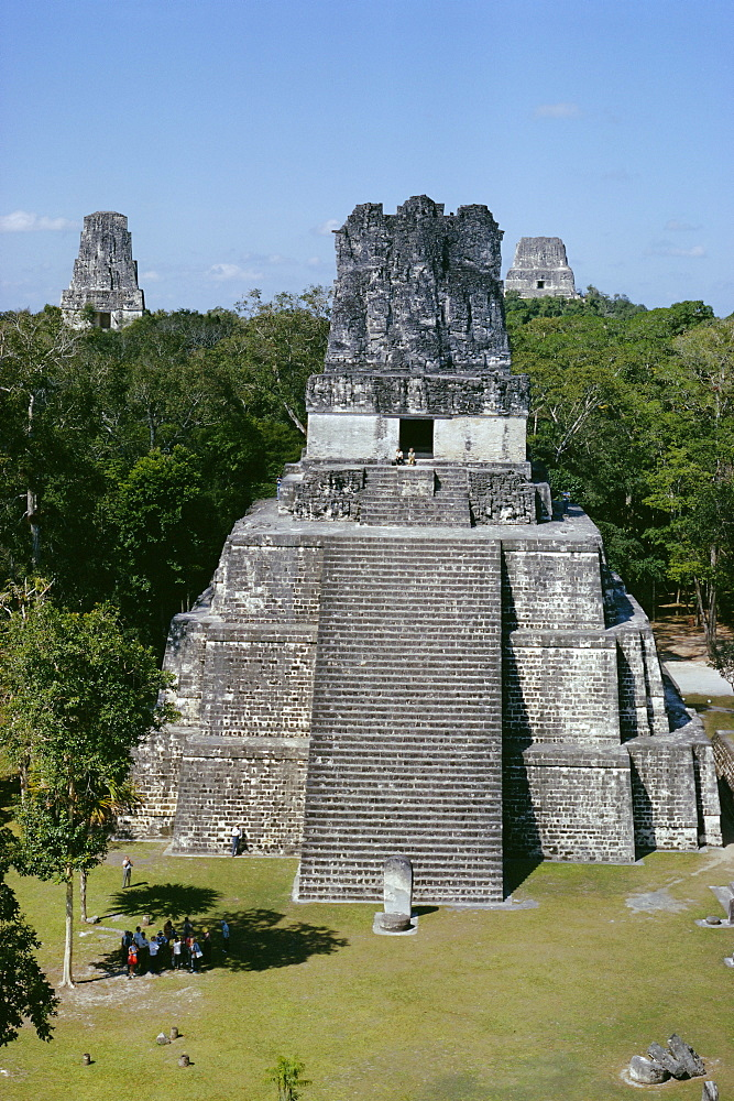 Temple II, Mayan archaeological site, Tikal, Guatemala, Central America