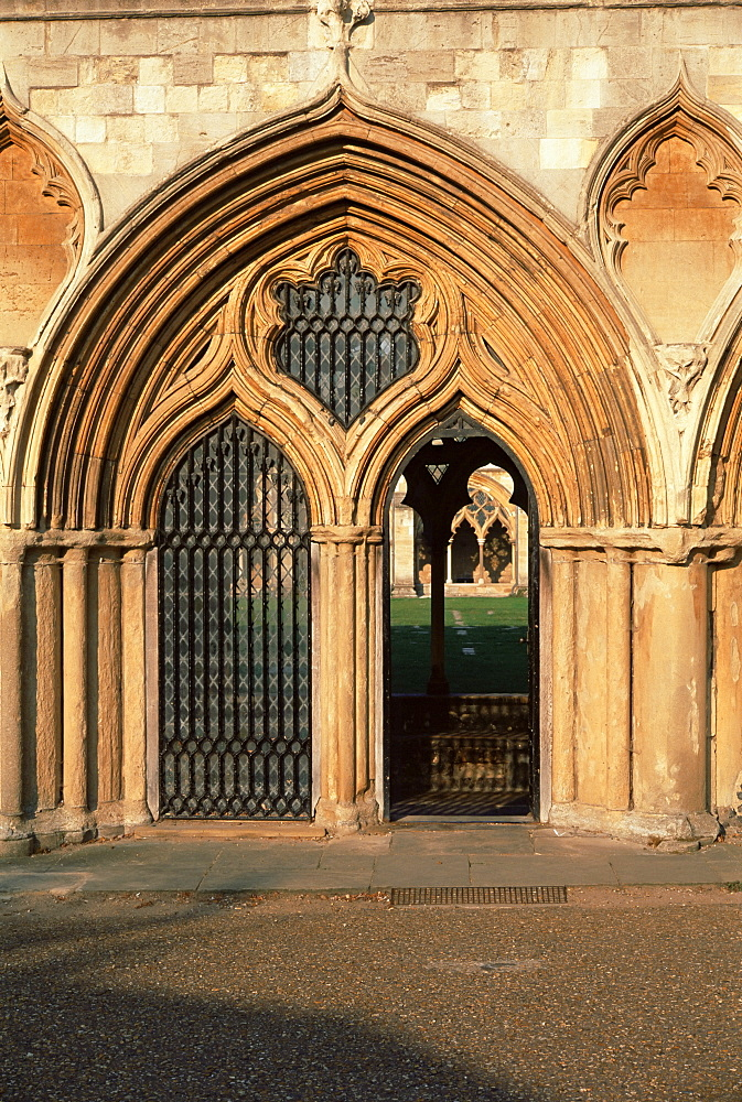 Norwich cathedral cloisters, dating from 13th to 15th centuries, Norwich, Norfolk, England, United Kingdom, Europe