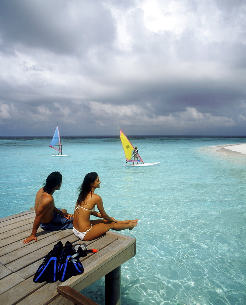 Couple in the Maldives, Indian Ocean, Asia