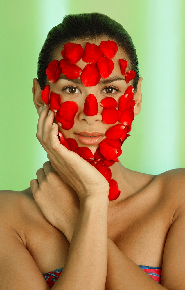 Rose facial at Aura Spa at Park Hotel, New Delhi, India, Asia