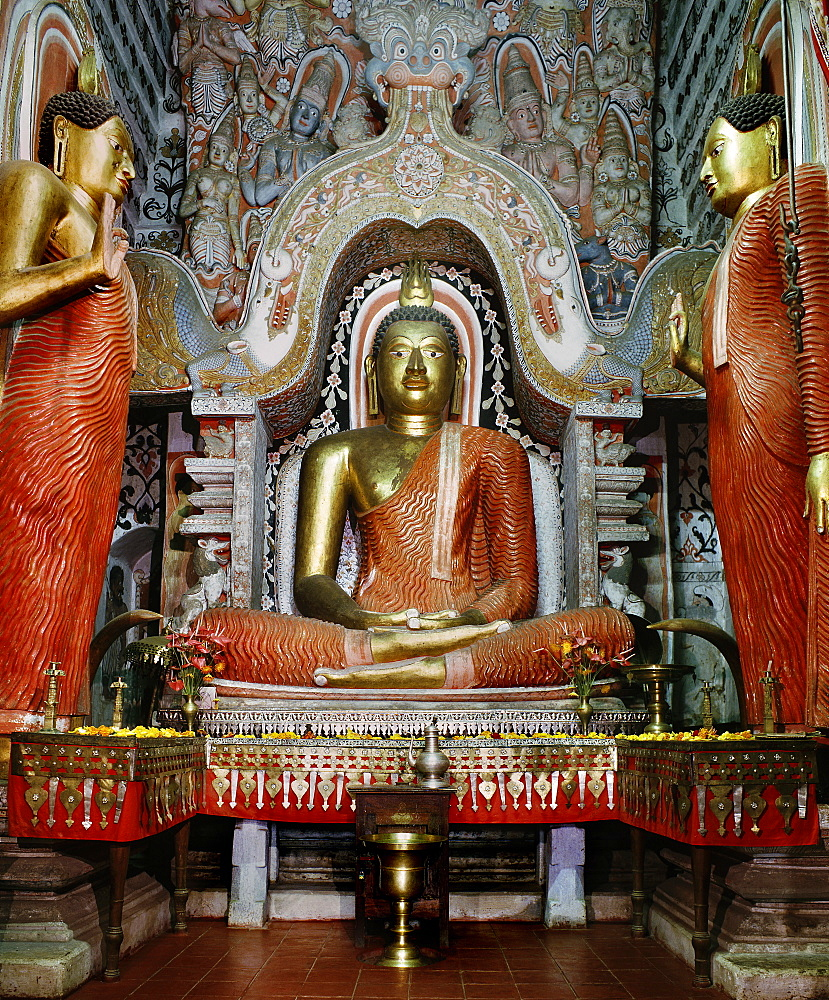 Image of Buddha in a temple in Colombo, Sri Lanka, Asia