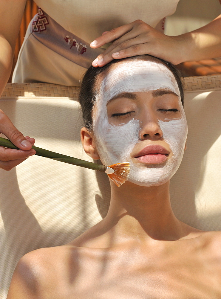 Facial at the Chi Spa at Shangri La Boracay Resort and Spa in Boracay, Philippines, Southeast Asia, Asia - 238-5253