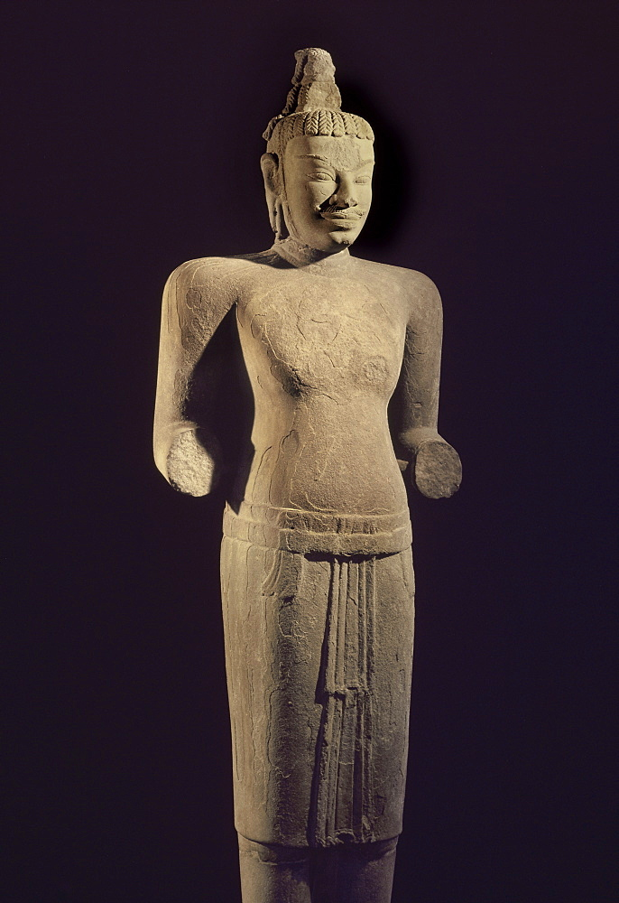 Standing Shiva from Mi Son, Cham art from the 8th century, Danang Museum, Vietnam, Indochina, Southeast Asia, Asia