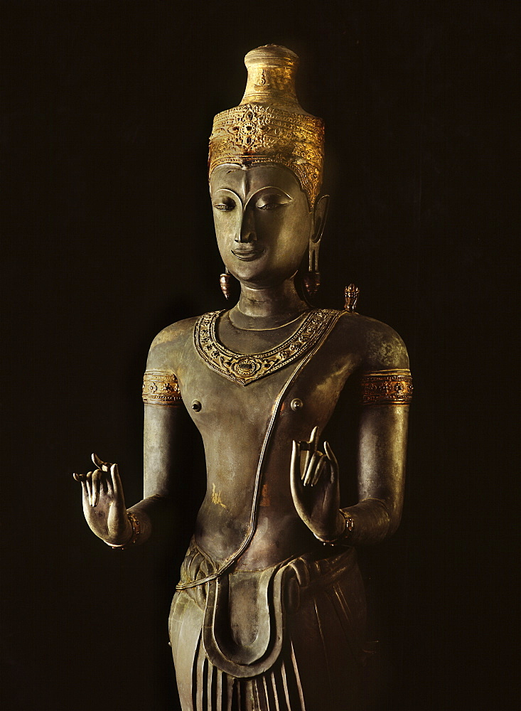 A 14th century bronze image of Shiva, part of a group of Hindu statues preserved at the Brahman Temple in Bangkok, now in National Museum, Bangkok, Thailand, Southeast Asia, Asia