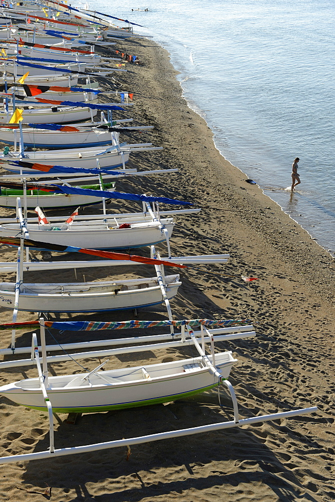 Fishing boats, Amed, Bali, Indonesia, Southeast Asia, Asia