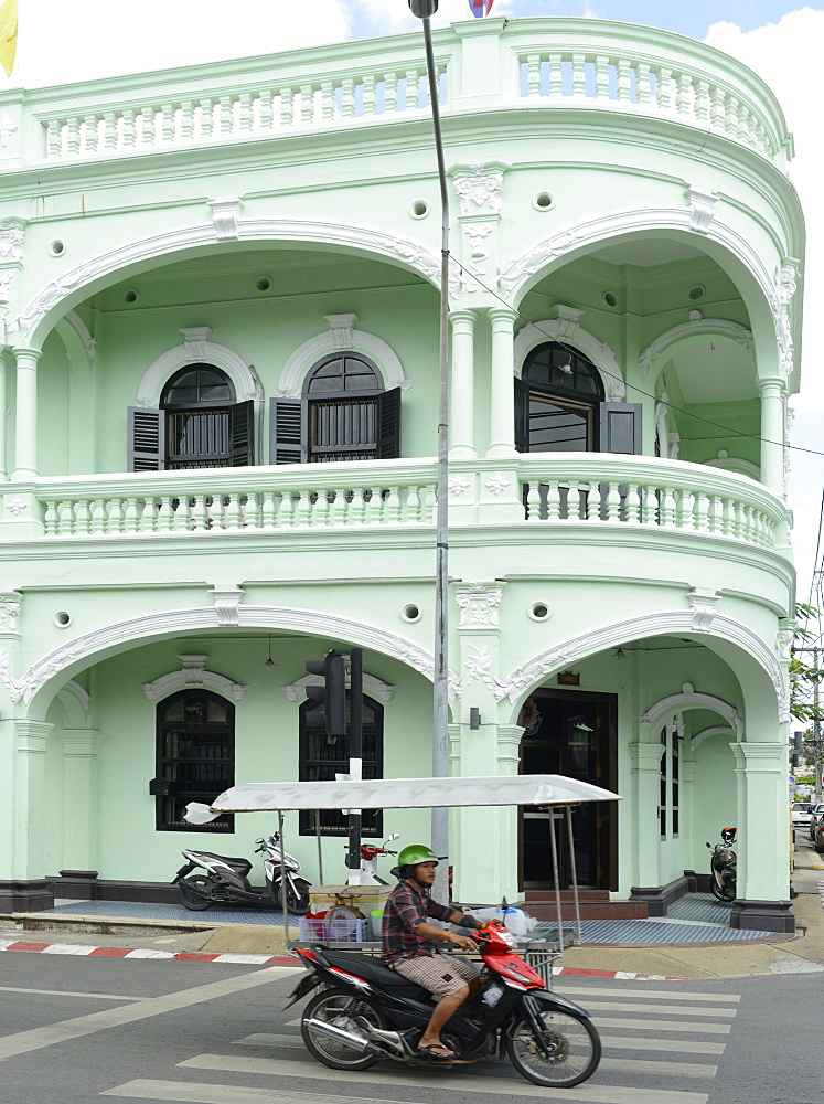 Standard Chartered Bank building, Phuket town, Thailand, Southeast Asia, Asia