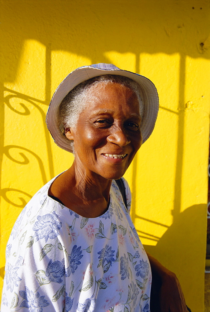 Portrait of a local woman, St. George's, Grenada, Windward Islands, West Indies, Caribbean, Central America - 252-10119