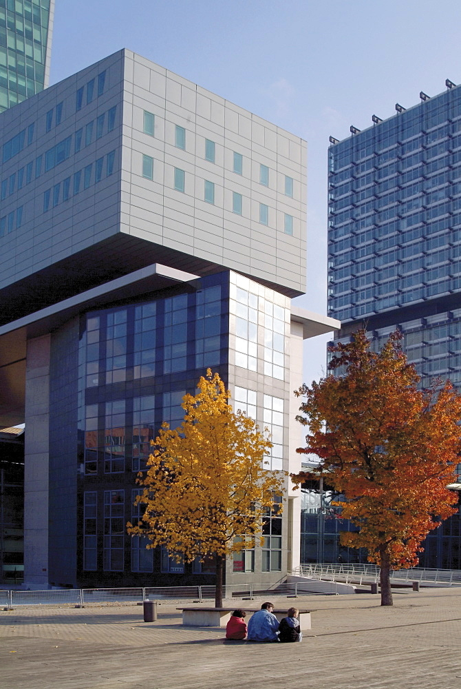Modern office blocks, Euralille, Lille, Flanders, Nord, France, Europe
