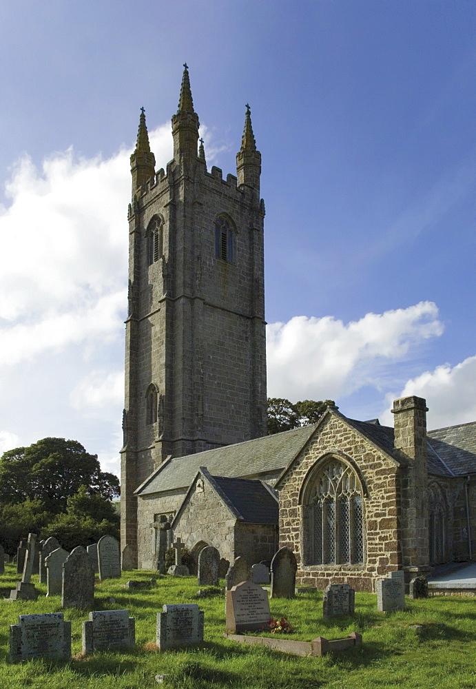 Parish church, Widecombe village, Devon, England, United Kingdom, Europe