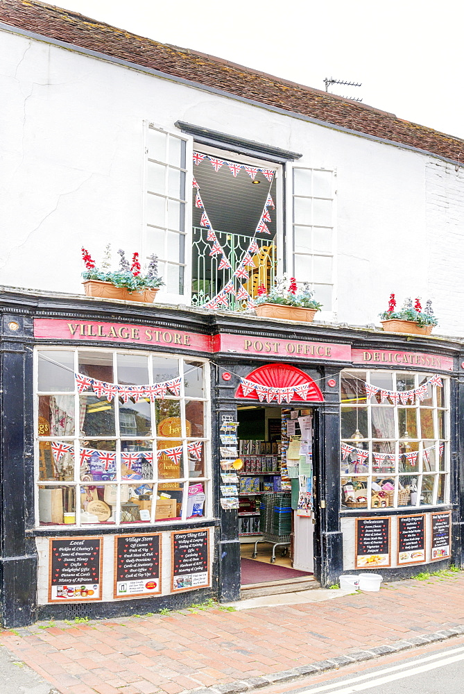Post Office and Village Store, Alfriston, East Sussex, England, United Kingdom, Europe - 255-8996
