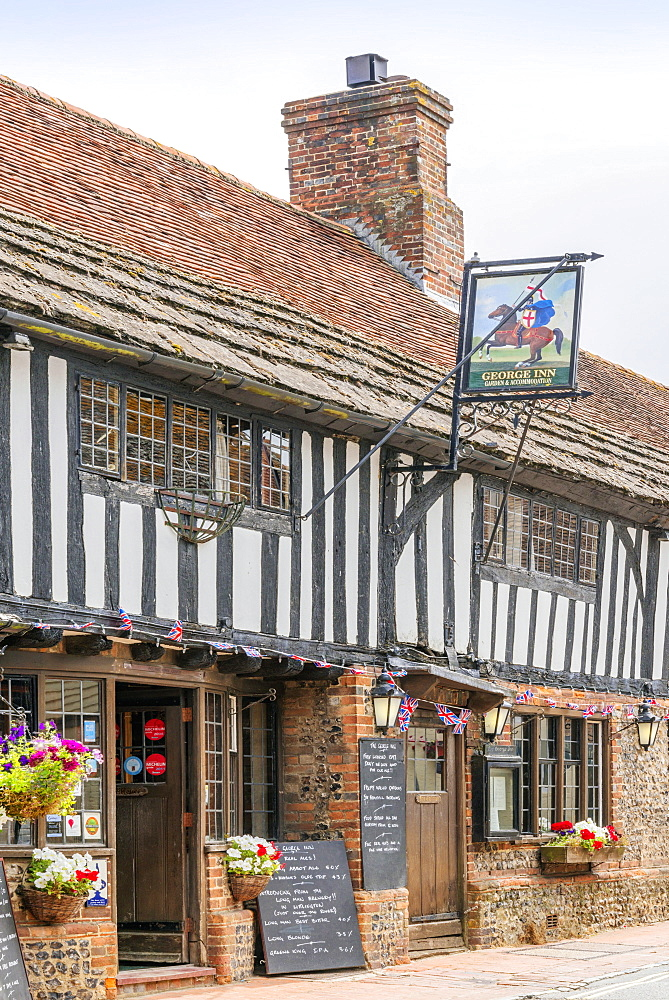George Inn, Alfriston, East Sussex, England, United Kingdom, Europe - 255-8997