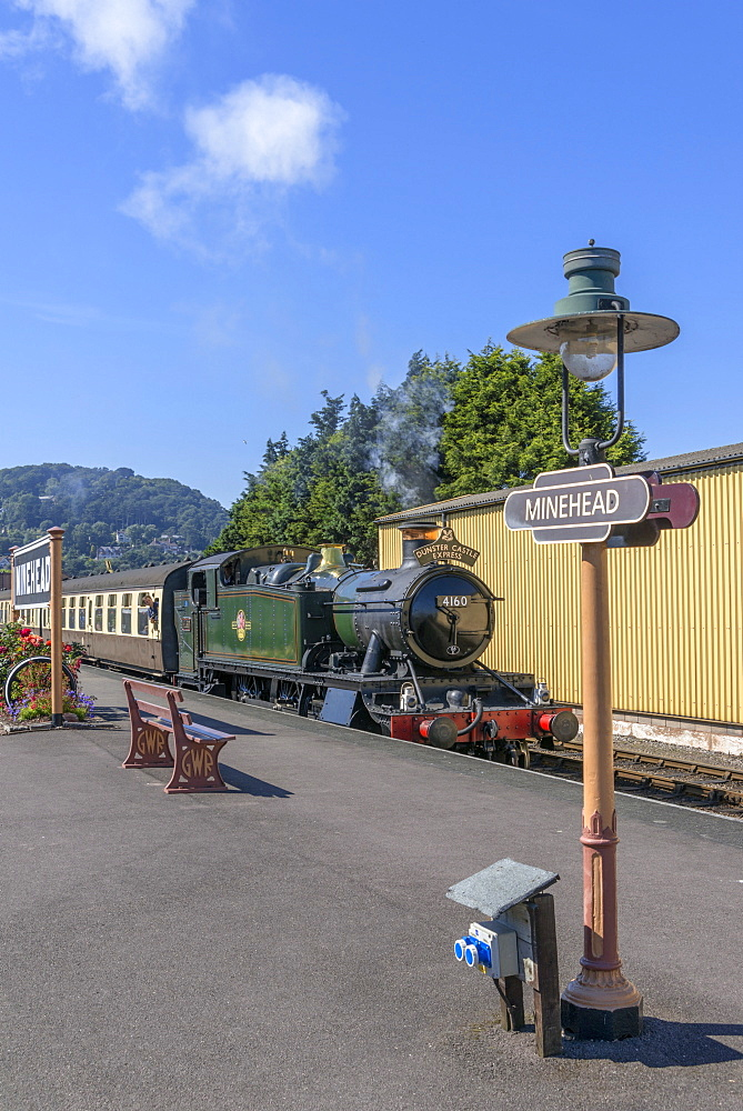 The West Somerset Railway, Minehead Station, Somerset, England, United Kingdom, Europe - 255-9017