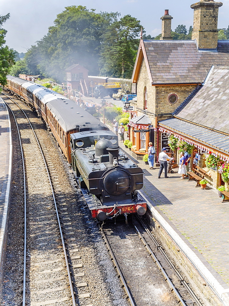 Severn Valley Preserved Steam Railway, Arley Station, Worcestershire, England, United Kingdom, Europe - 255-9026
