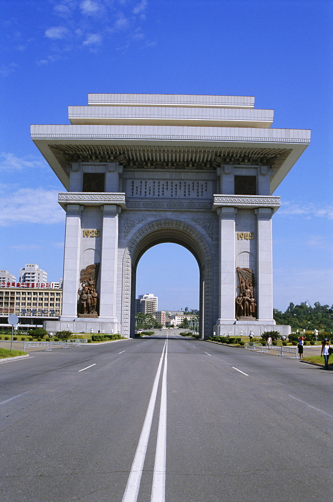 Arch of Triumph, 3m higher than Arc de Triomphe in Paris, Pyongyang, North Korea, Asia