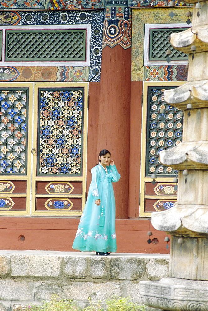 Pohyonsa Buddhist Temple, Myohyangsan, North Korea, Asia