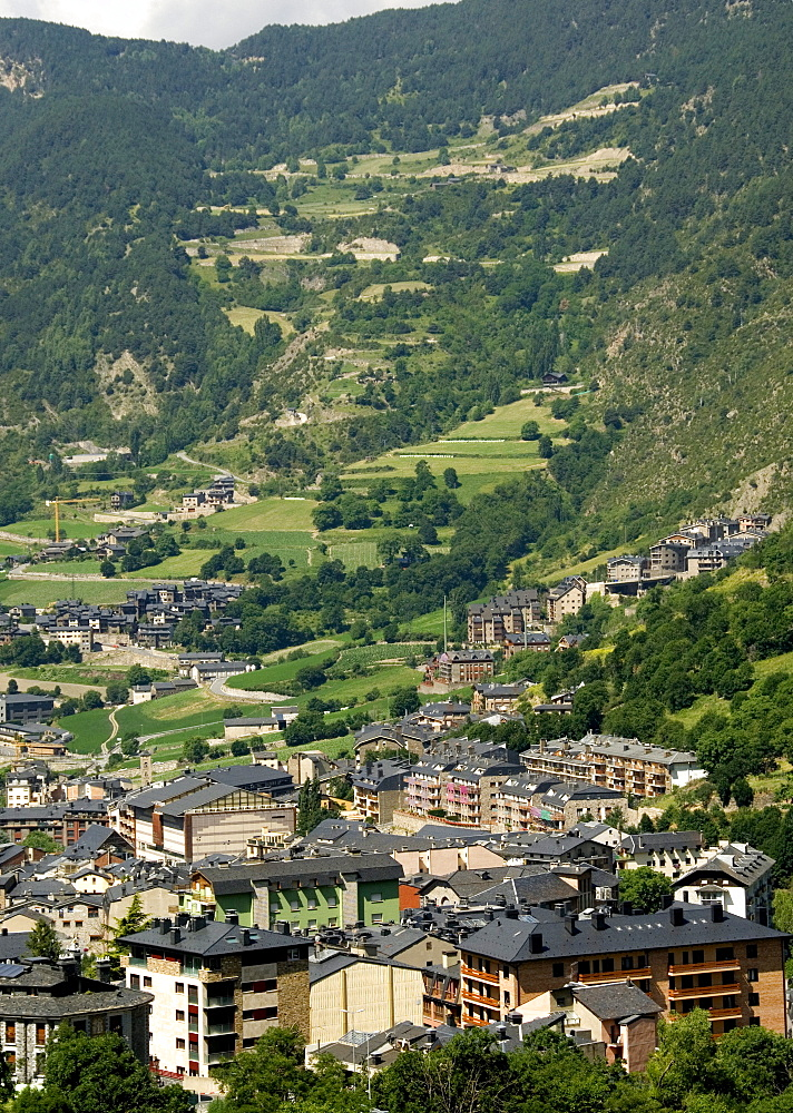 Andorra la Vella, capital city of Andorra state, Andorra, Pyrenees, Europe