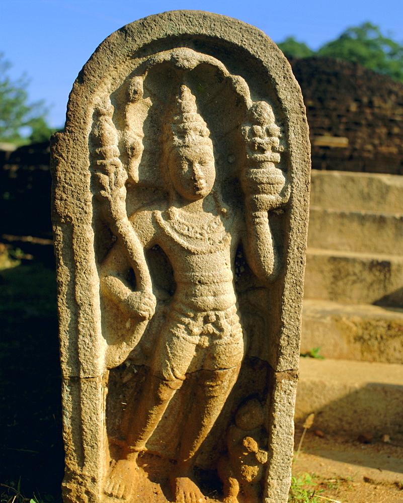 Guard stone, Ratnaprasada, Anuradhapura, Sri Lanka