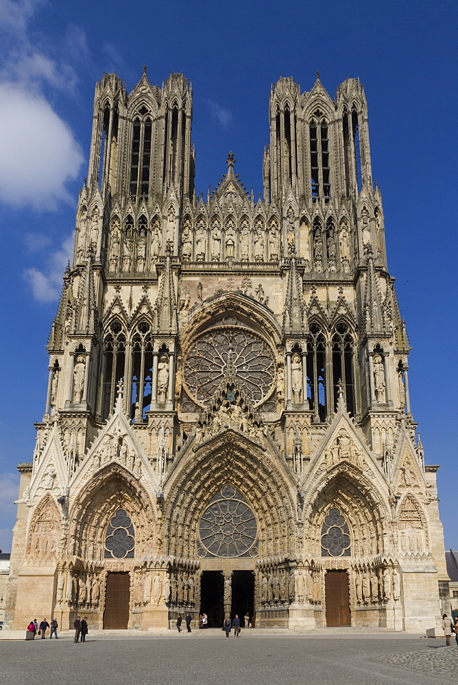 Cathedral, Rheims, UNESCO World Heritage Site, Marne, France, Europe