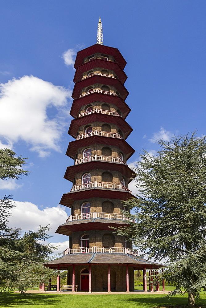 Pagoda, Royal Botanic Gardens, Kew, UNESCO World Heritage Site, London, England, United Kingdom, Europe