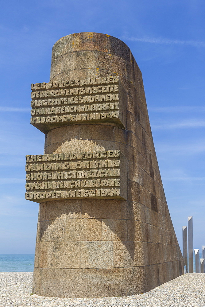 D-Day, 6th June 1944 memorial, Omaha beach, Collevile, Normandy, France, Europe
