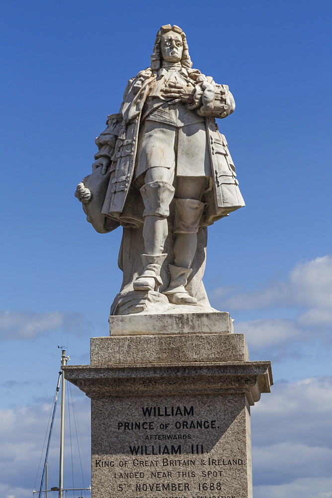 William III statue, Brixham, Devon, England, United Kingdom, Europe
