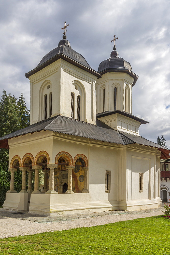 Old church (Dormition of the Holy Virgin Mary), Sinaia Monastery, Wallachia, Romania, Europe