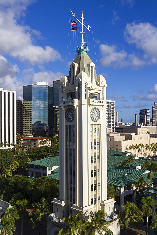 Aloha Tower, Honolulu, Oahu, Hawaii, United States of America, Pacific