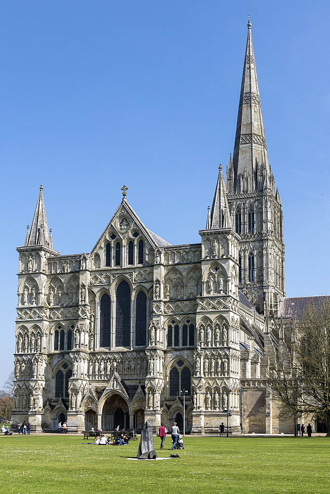 Cathedral, Salisbury, Wiltshire, England, United Kingdom, Europe