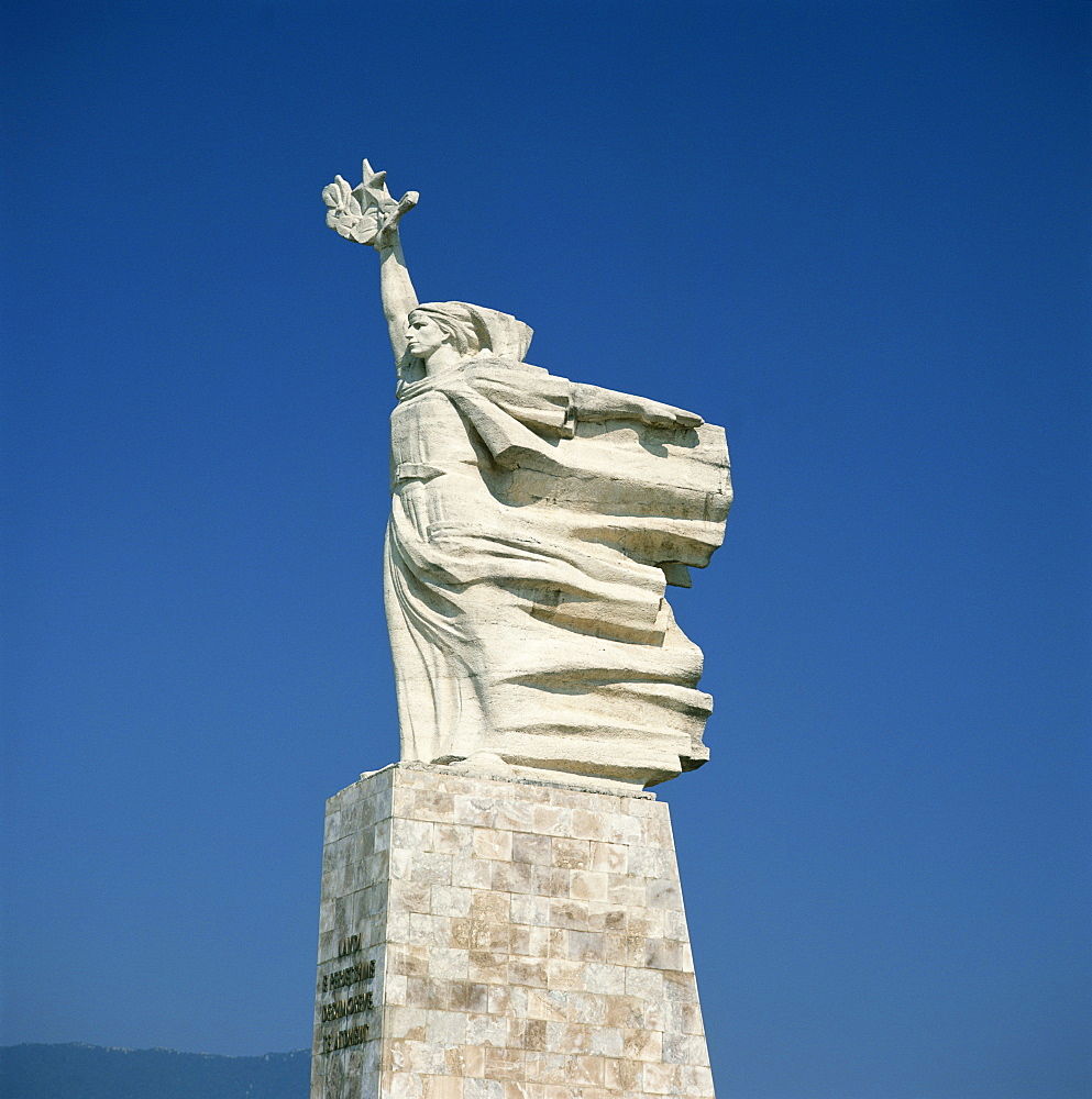 Statue of Mother Albania in Tirana, Albania, Europe