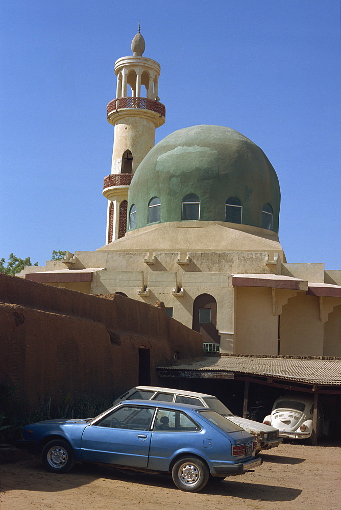 Mosque next to Gidan Makama museum, Kano, Nigeria, West Africa, Africa