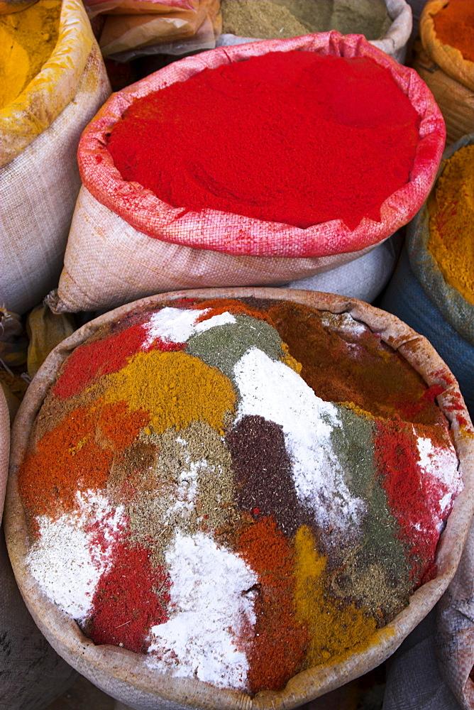 Spice shop, Bazaar, Central Kabul, Afghanistan, Asia