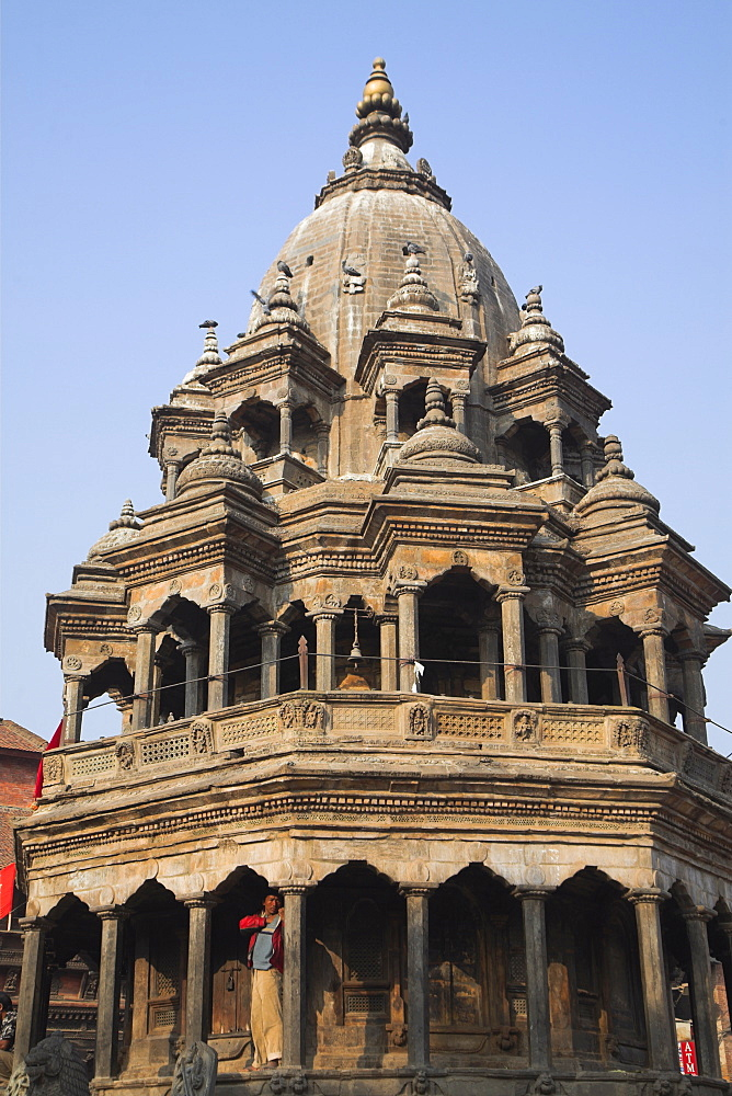 Octagonal Krishna Temple built by Pratapa Malla in memory of two of his favourite queens, Durbar Square, UNESCO World Heritage Site, Patan, Bagmati, Nepal, Asia