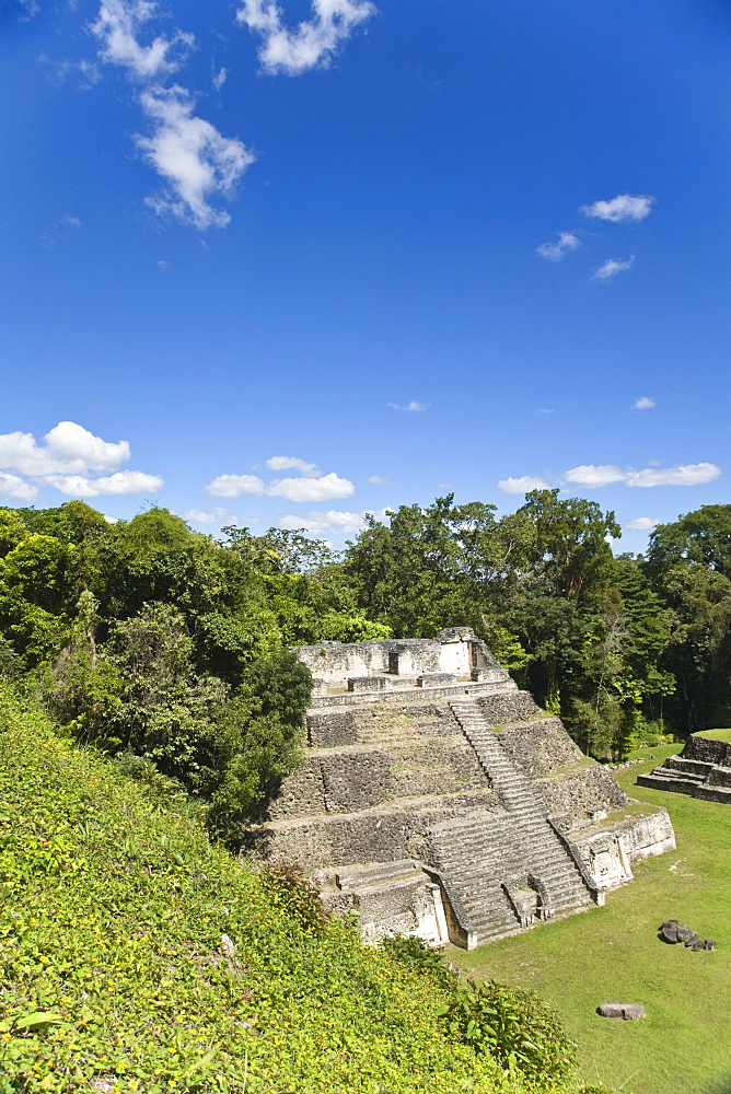 Plaza A Temple, Mayan ruins, Caracol, Belize, Central America
