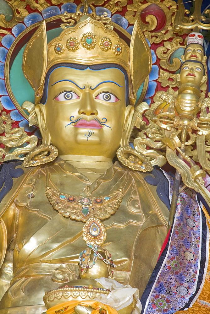 Padmasambhava statue, Kathok Wodsallin Gompa, Yuksom (Yuksam), Sikkim, India, Asia