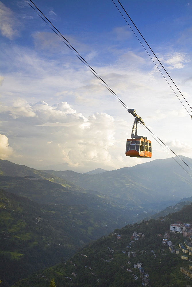 Damovar Ropeway, Gangtok, Sikkim, India, Asia
