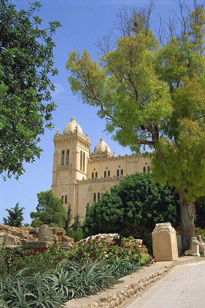Cathedral of St. Louis, Carthage, Tunisia, North Africa, Africa