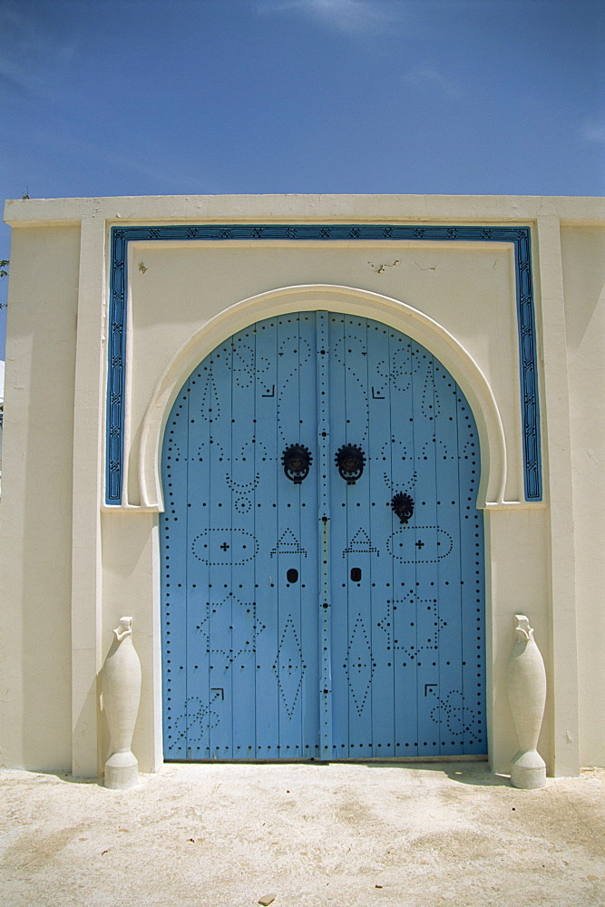 Detail of door, Carthage, Tunisia, North Africa, Africa