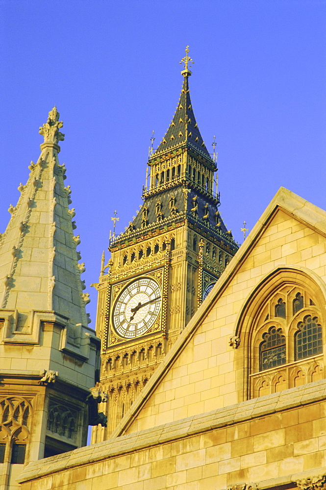 Big Ben, Houses of Parliament, Westminster, London, England, UK