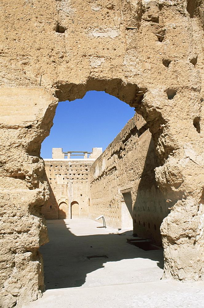 Ruins of El Badi Palace, Marrakesh (Marrakech), Morocco, North Africa, Africa - 321-3258