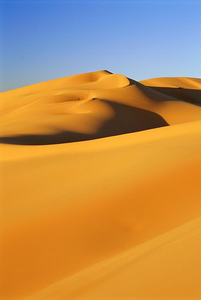Sand dunes of the Erg Chebbi, Sahara Desert near Merzouga, Morocco, North Africa, Africa